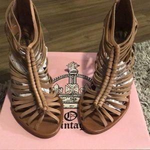 Tan Crown heeled leather Sandal